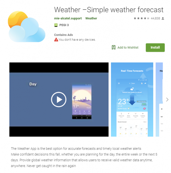 malicious weather app