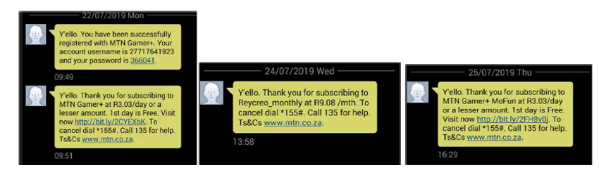 subscription sms